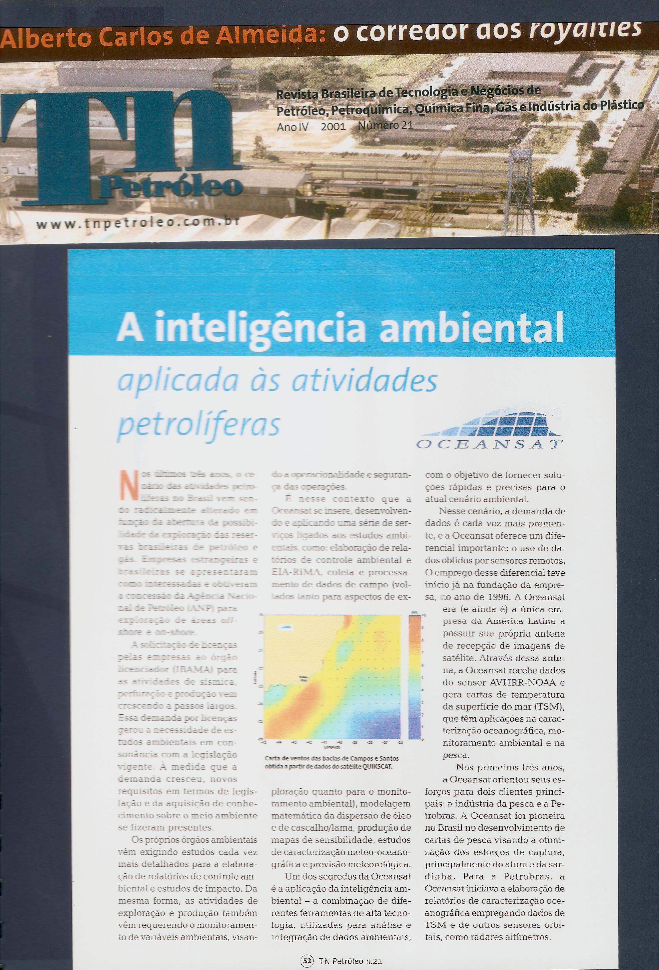 A inteligência ambiental aplicada às atividades petrolíferas