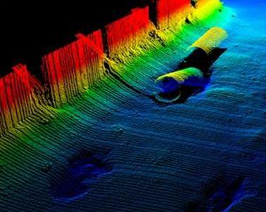 Imagem do Multi beam em água rasa.