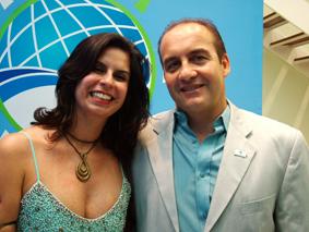 Carlos Leandro e Beatriz Mattos,  sócios da Ambipetro.